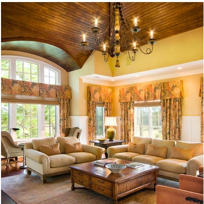 Wood Ceiling With Barrel Vault and Box Soffits