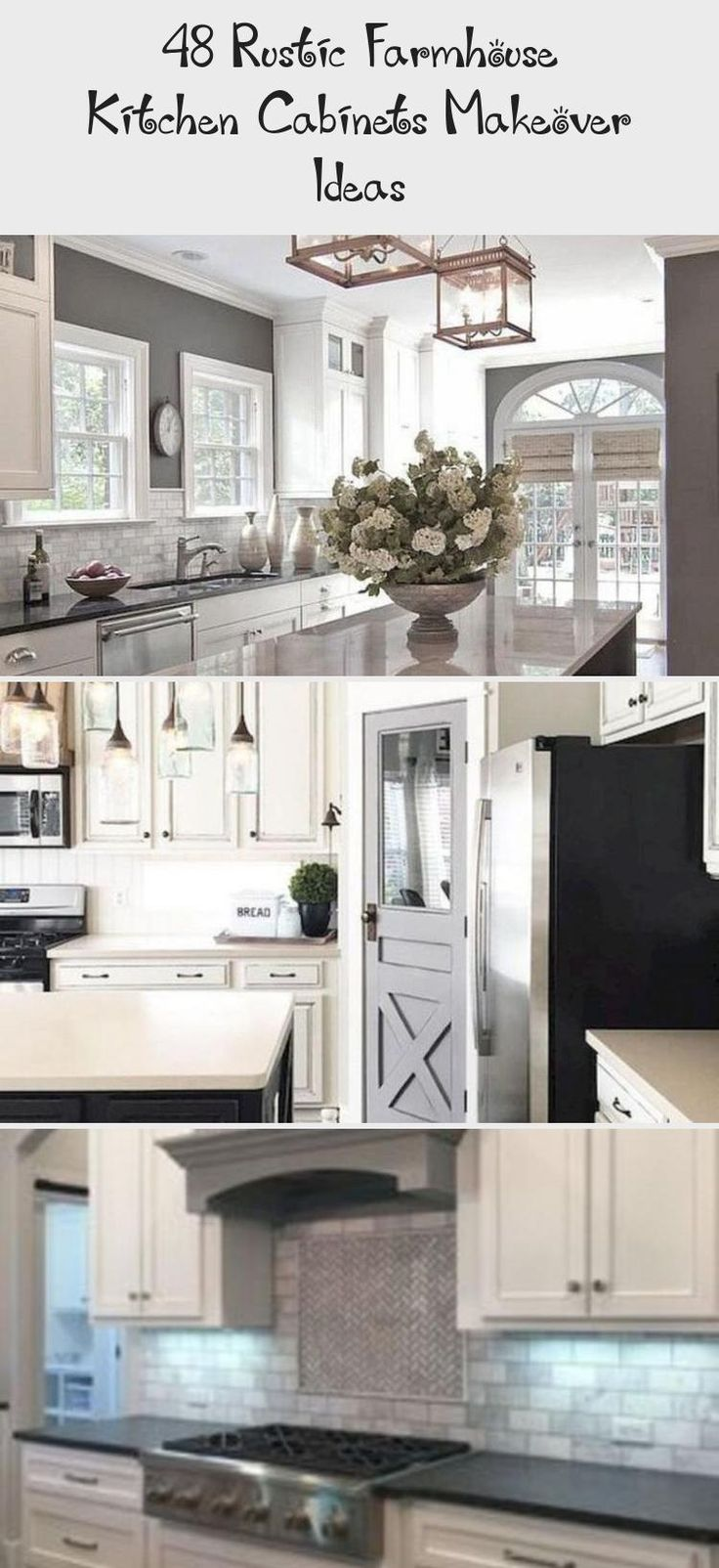 48 Rustic Farmhouse Kitchen Cabinets Makeover Ideas ... on Rustic:yucvisfte_S= Farmhouse Kitchen Ideas  id=60977