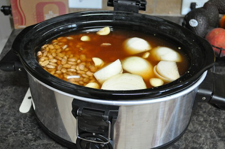 Crockpot pinto beans - These came out totally perfect! I added one ...