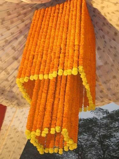 Marigold wedding decoration. #Marigold #Wedding  Bharat Kiraya Bhandar
