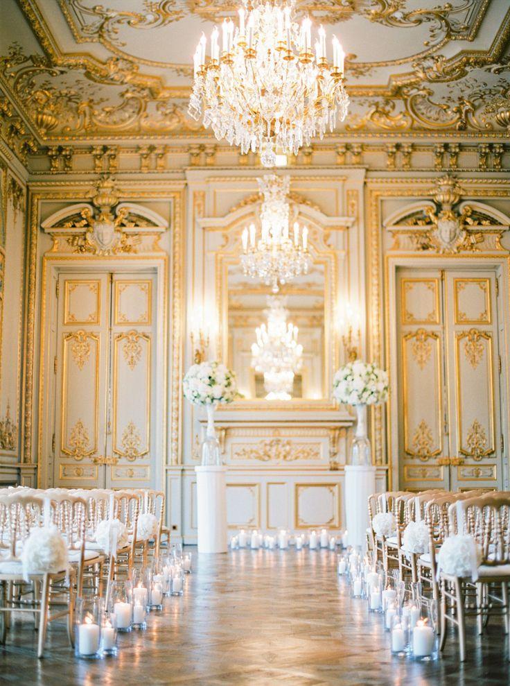 Photography: Peaches And Mint - peachesandmint.com Venue: Shangri La Paris - www.shangri-la.com/paris/shangrila/weddings-celebrations/   Read More on SMP: http://www.stylemepretty.com/2015/10/01/luxurious-paris-destination-wedding/