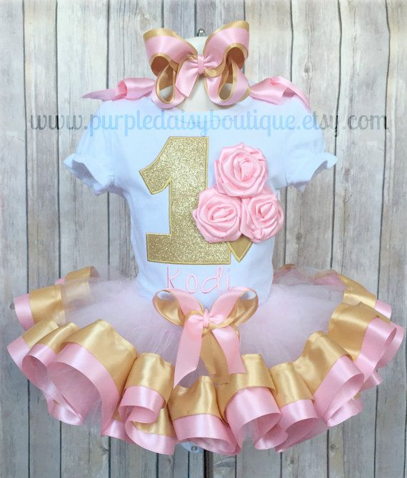 First Birthday Rosette Ice Cream Cone Pink by PurpleDaisyBoutique