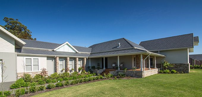 Stunning slate look house in the Hunter Valley.