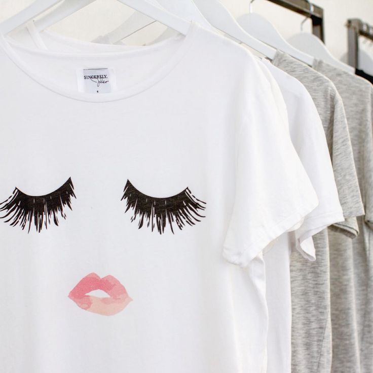 Lips and Lashes Tee from Sincerely Jules