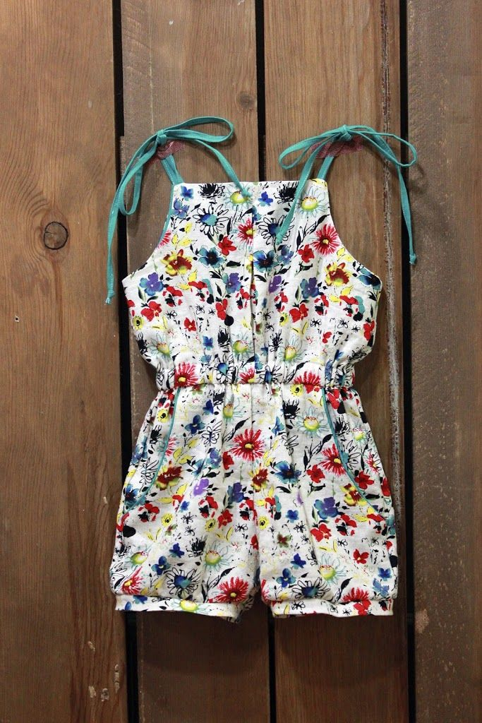 Free Pleated Playsuit Pattern by Elegance and Elephants