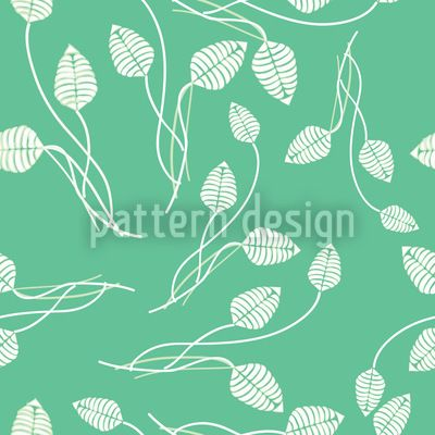 Flower Dance On Mint by Anny Cecilia Walter available for download on patterndesigns.com