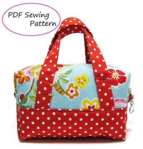 PDF Sewing Pattern -Mini Boston Pouch.