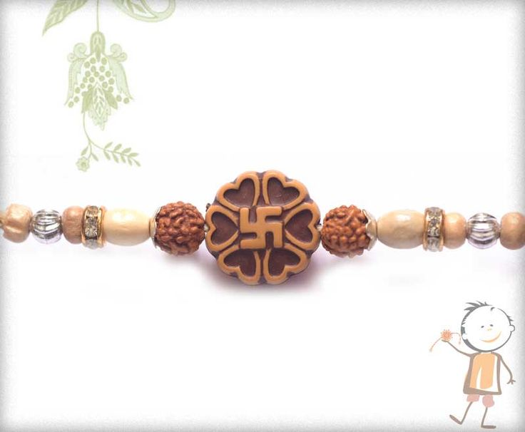Mauli  #Rakhi Collection 2015 – Send  #Rakhi to #India, #USA, #UK, #Canada, #Australia, #Dubai #NZ #Singapore.  In addition to Auspicious Swastik with Rudraksh Rakhi, surprise your loved ones with roli chawal, chocolates and a greeting card as it is also a part of our package and that too without any extra charges. http://www.bablarakhi.com/send-fancy-rakhi-online/870-send-auspicious-swastik-with-rudraksh-rakhi-online.html