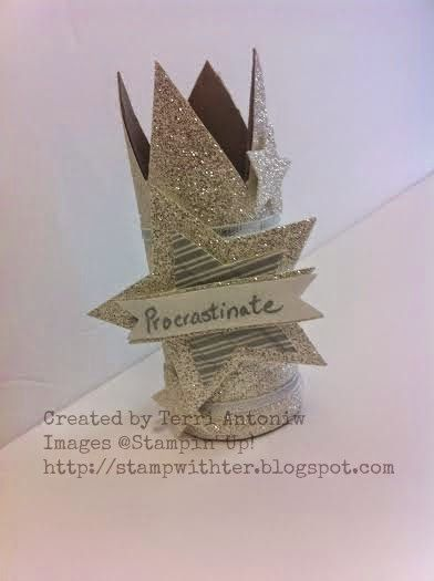 Stamp with Ter: Procrastination Queen Crown Created by Terri Antoniw Images ©Stampin' Up! http://stampwithter.blogspot.com #stampwithter #watercoolerbloghop  August Wacky Watercooler Blog Hop