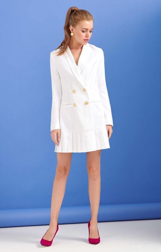 3b4beaa5fbb Двубортное платье-пиджак с юбкой плиссе TOP20 Studio   2000001103340 ...