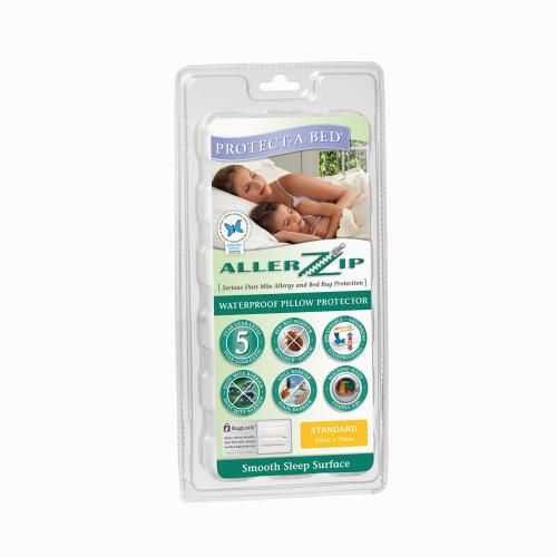 Allerzip Smooth Fully Encased Pillow Protector