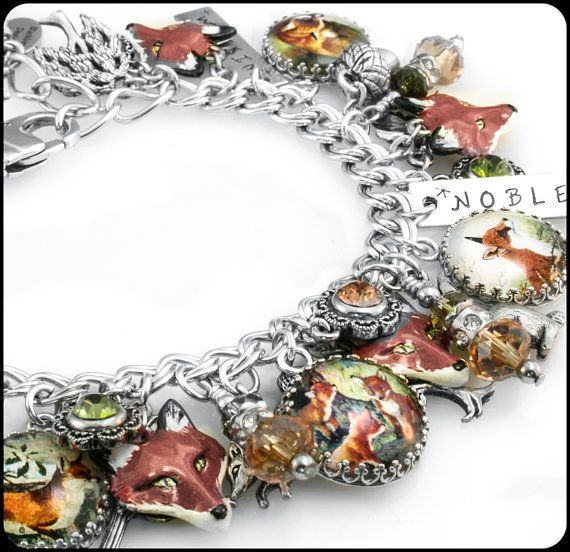 Fox Jewelry Fox Bracelet Wild Animal Animal by BlackberryDesigns, $143.00