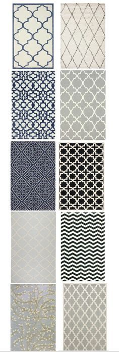 Beautiful transitional rugs, even some hides, at great prices