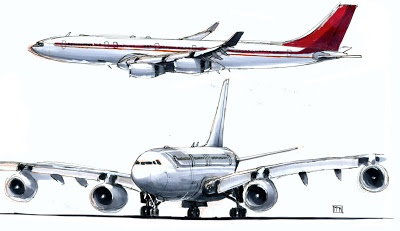 aircraft sketches / airbus a340 / peter maynez