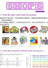 ESL - English Exercises: Shops