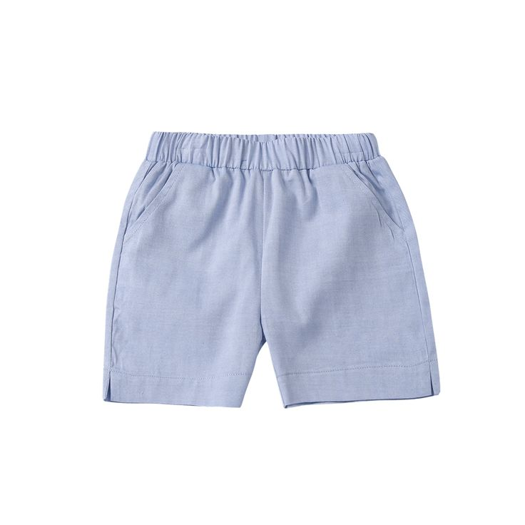 Blue Cotton Shorts / The Happyology Artist Collection