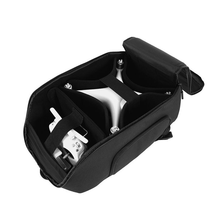 """$199.99 Drone Pro Pack  SOLD by INCASE    Compatible withDJI Phantom 3 / 4 / 4 Pro / 4 Advanced and Similar Sized Drones/DJI Spark/DJI Goggles/ Up to 15"""" MacBook Pro/iPad    Material:Abrasion resistant 840D ballistic Nylon   DSLR - Camera - Products Effortless access to padded drone storage compartment; customizable velcro dividers expertly accommodate your drone, controller, charging solution, OSMO and accessories; cushioned back panel unzips and accommodates up to MacBook 15"""""""