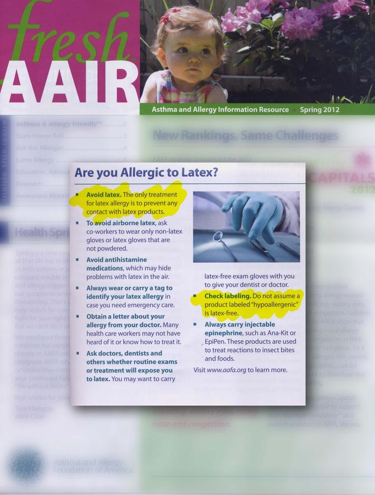 Latex allergy cause asthma