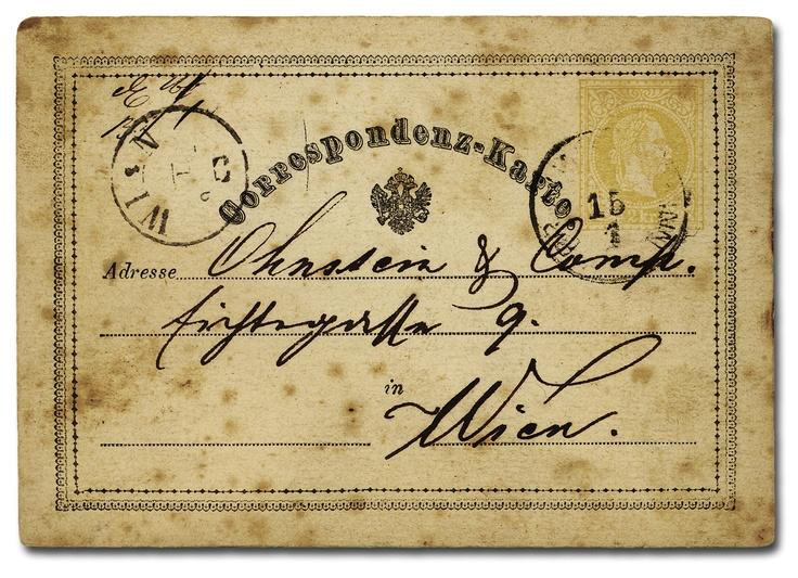 Correspondenz-Karte vintage ephemera
