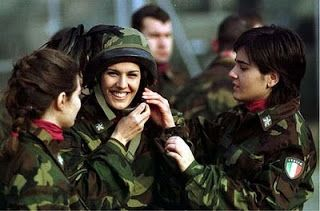 Beautiful Italian women in the Air Force