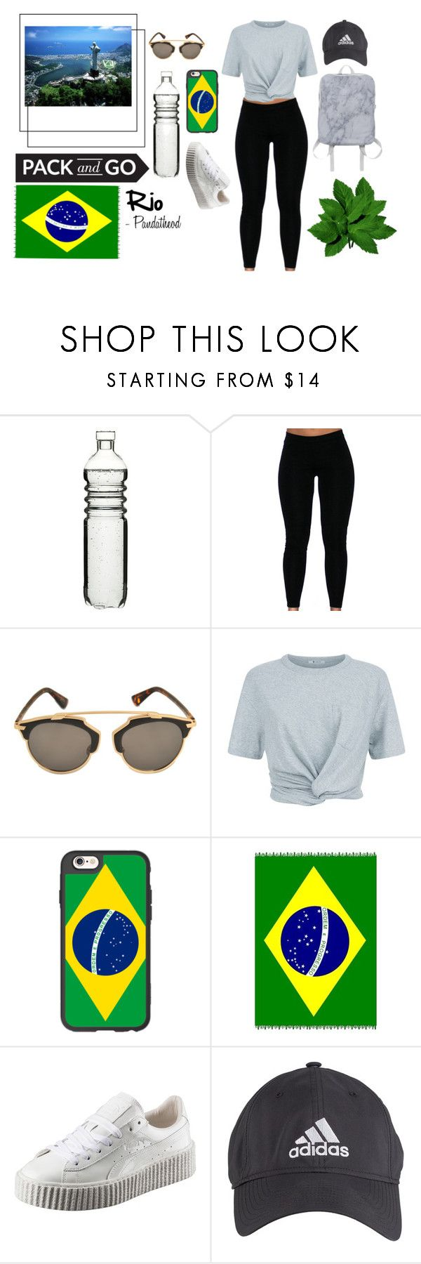 """""""Lets Go visit Rio"""" by pandatheod ❤ liked on Polyvore featuring Dot & Bo, Christian Dior, T By Alexander Wang, Casetify, Puma, adidas and rio"""