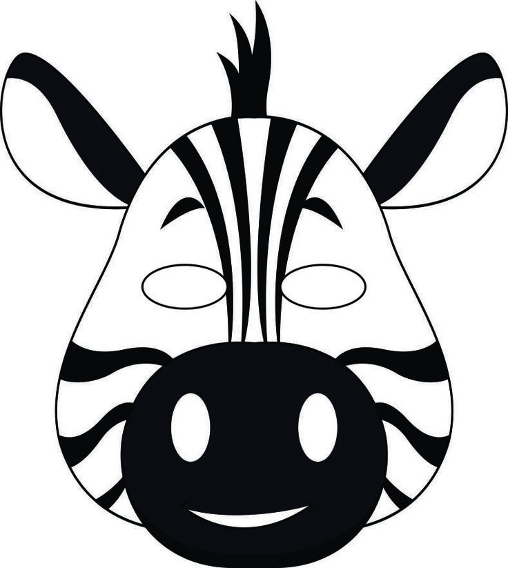 Jungle Masks Wild Thang Zebra Print Pinterest Animal Masks