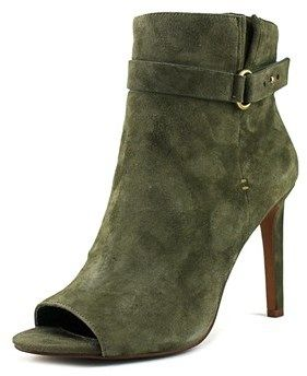BCBGeneration Cassia Women Peep-toe Suede Green Ankle Boot.
