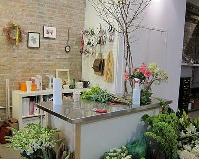 counter top: Floral Shops, Brick Wall, Shop Displays, Flower Shops, Flower Shop Obsession