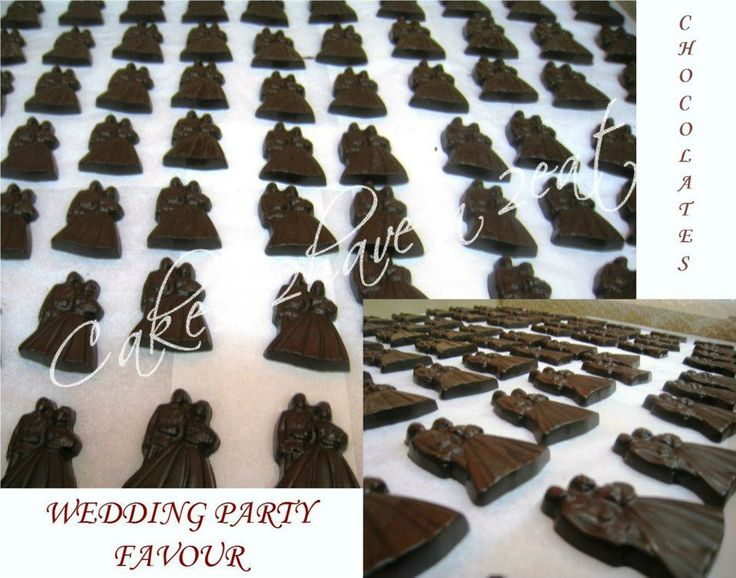 WEDDING PARTY FAVOUR - CHOCOLATE BRIDE AND GROOM YUMMY!