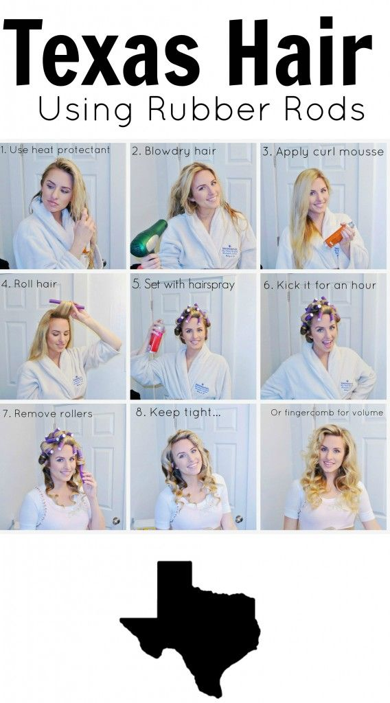 Tutorial on how to use rubber rods to curl hair. Doesn't require sleeping in them!