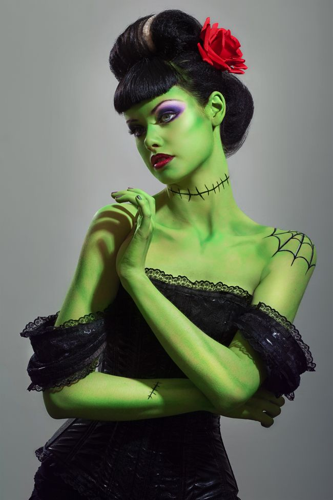 Bride of Frankenstein Costume - Stephanie Cammarano