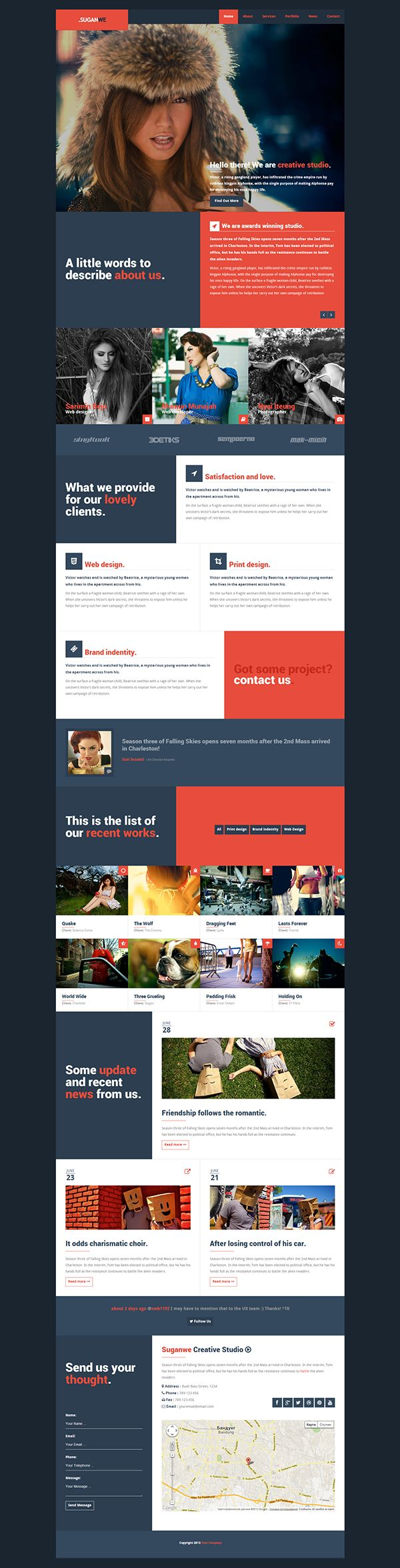 Suganwe - Responsive One Page Template HTML5 on Behance