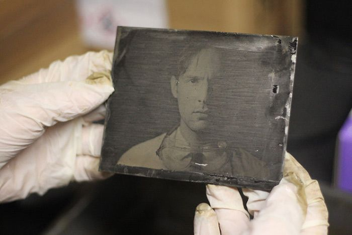 tintype printed