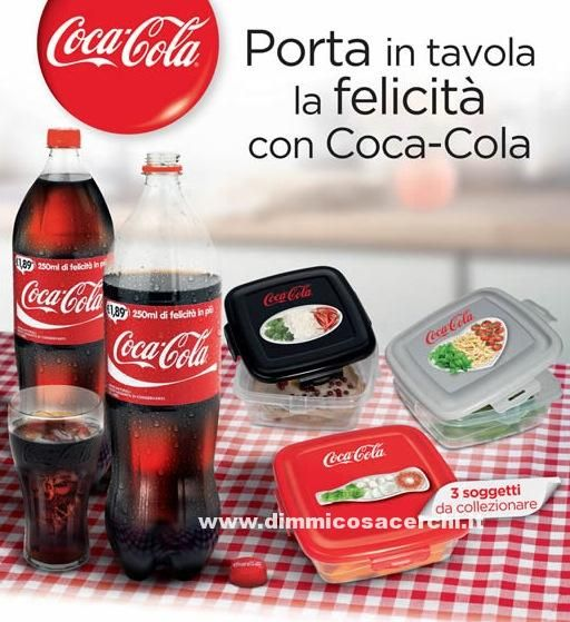 Contenitori per alimenti Coca Cola - DimmiCosaCerchi.it