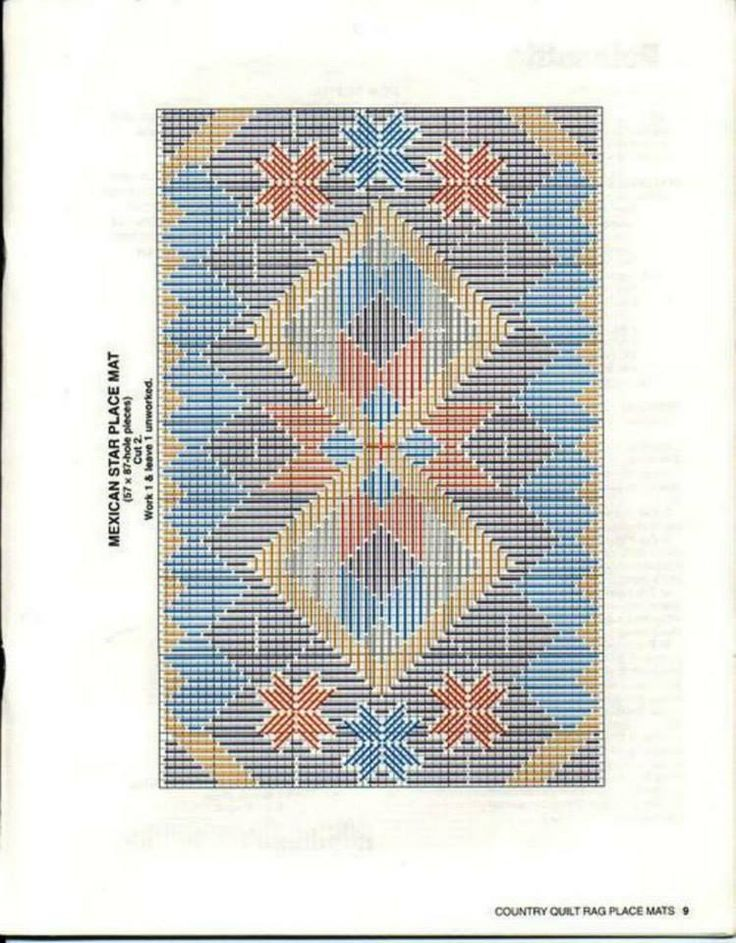 Country Quilt Rag Place Mats~ Mexican Star * 8/14