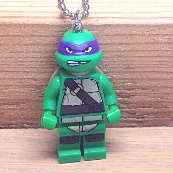 Donatello Necklace  Lego Minifigure  Teenage by creativityismessy, $15.00