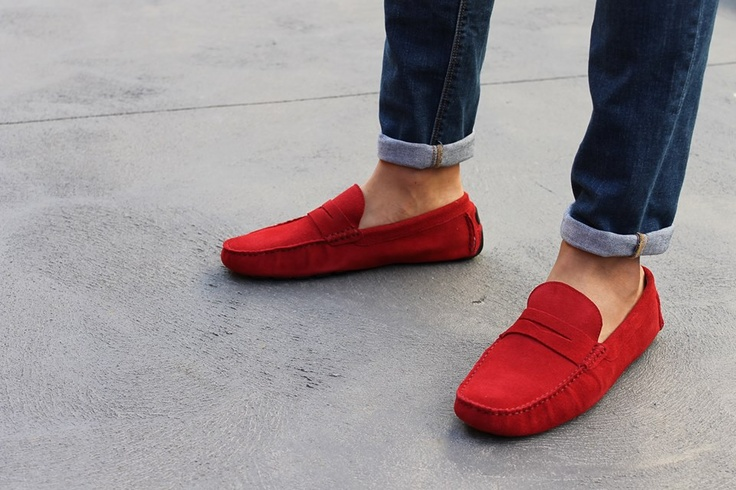 Cherry Red Shoes For Men...