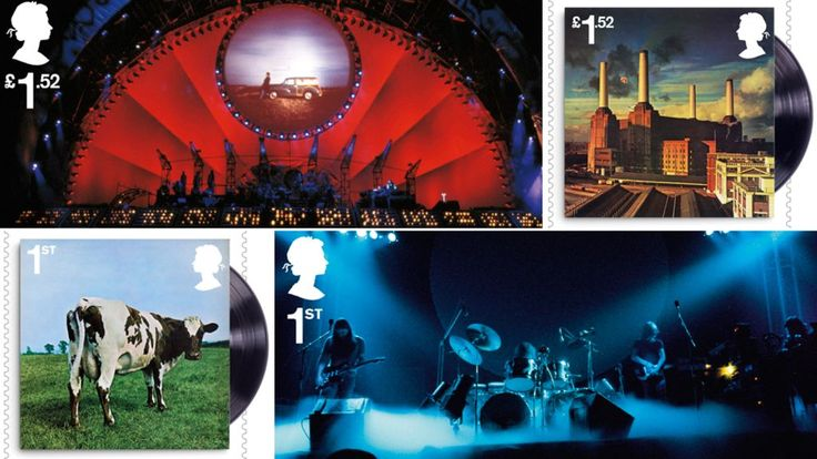 A set of stamps celebrating 50 years of British rock group Pink Floyd have been unveiled by Royal Mail.