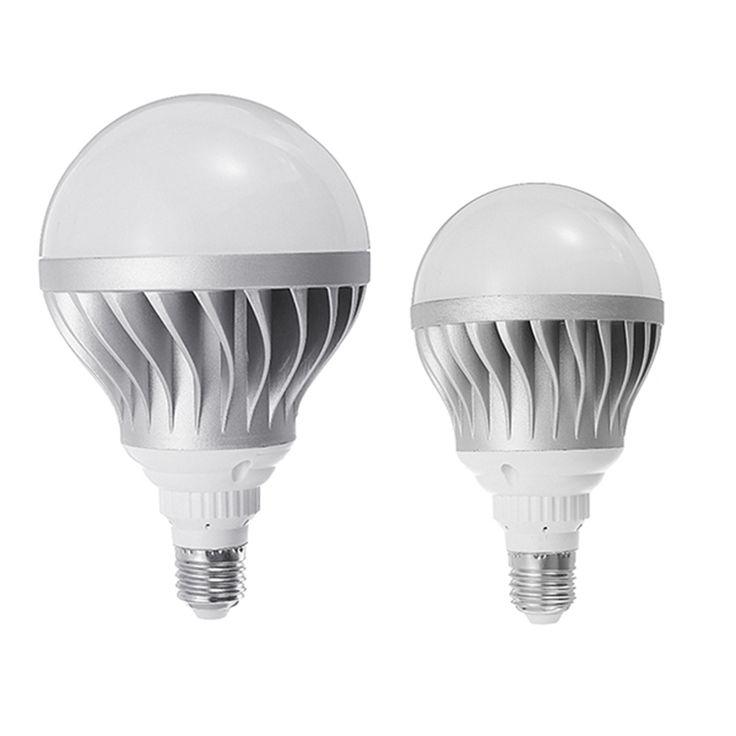 5730 SMD LED Lamp Bulb E27 15W 24W Silver Aluminum Shell Global LED Light Bulb Super Bright Pure White 6000-6500K AC85-265V #Affiliate