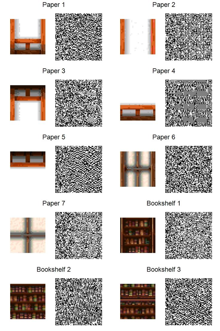 Acnl paper walls and bookshelves by frootzcat ac new for Floor qr codes new leaf