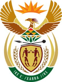 """The coat of arms of South Africa once again symbolizes people joining together after the general election. Written in Khoisan, one of the 11 languages of South Africa, ǃke e: ǀxarra ǁke translates to """"Diverse People Unite"""", representing the union of """"The Rainbow Nation."""""""