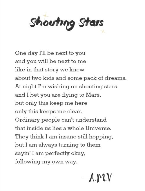Alexandra's Paradise: Shouting Stars - by me