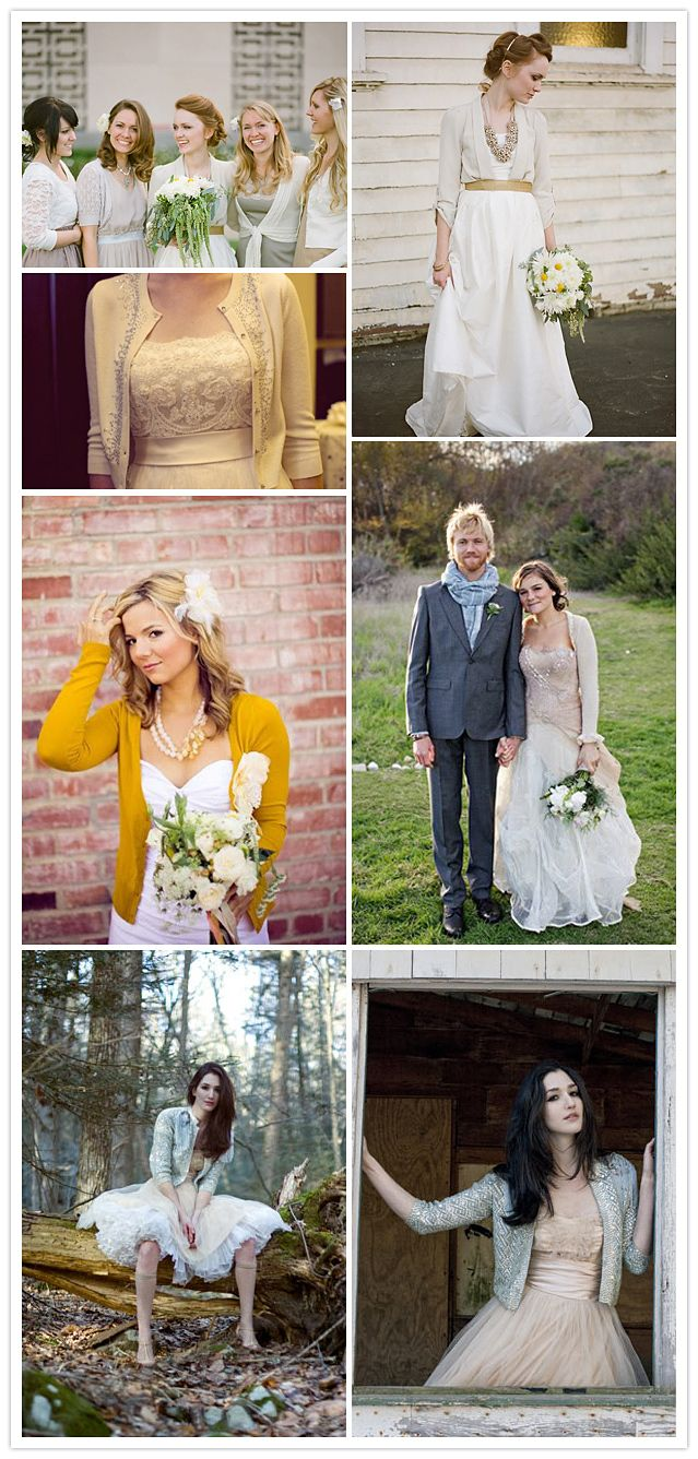 wedding-cardigans - Love the yellow one!!