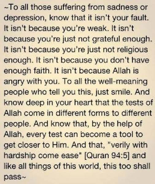 """La Tahzan Innallaha Ma'ana"" … Don't be sad; indeed, Allah is with us. [Qur'an 9:40]"