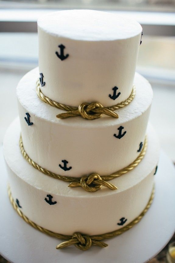 Charleston Weddings - @scaquarium - @pinriverland - @burlapelephant - @duvallevents - @tigerlilyweds - Ashley Bakery - Nautical Inspired Lowcountry Wedidng at the South Carolina Aquarium - Anchor Cake