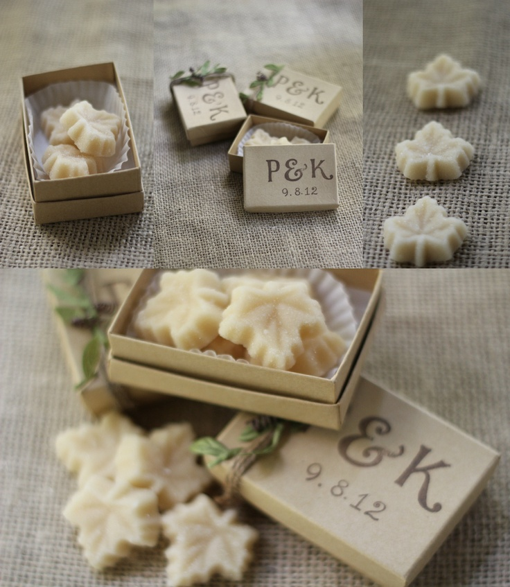 Maple Candy Wedding Favor
