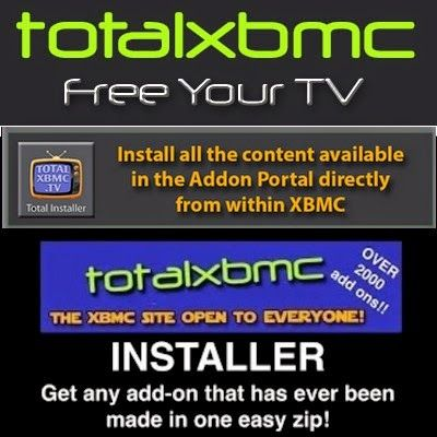 Total Installer for Xbmc Apps | Android-Xbmc-Kodi Fantastically easy way to get free addons for Xbmc/ Kodi. Like an app store for Kodi.