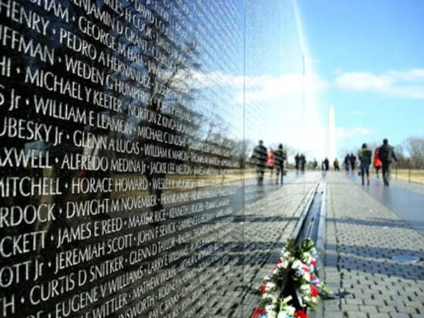 IT IS A GREAT SLAB of stone from India, black, polished, and reflective in the early morning light that spackles the ground of the National Mall in Washington, D.C. It is two hundred and forty-six feet long and nine feet high. It was built, so... Read more