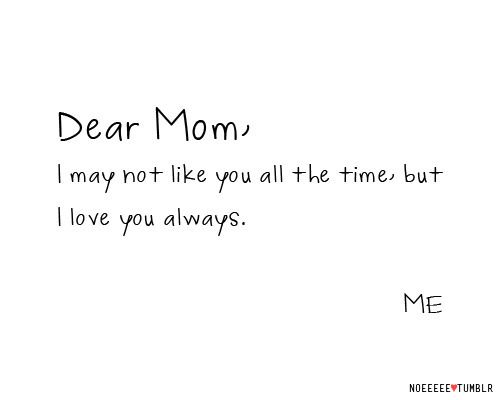 If one day my girls say this about me as a mom! I will be happy! It means I truly did my job as a parent!
