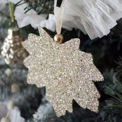 DIY Christmas face north Ornament clearance Leaf outlet Glitter
